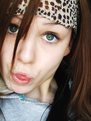 Girl with silly face