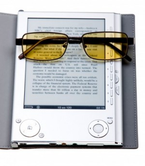 Kindle and reading glasses