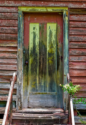 Door to condemned house