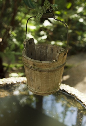 water well and bucket